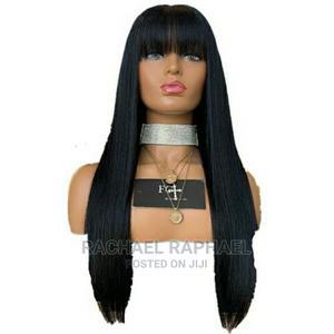Long Straight Natural Black Wig for Women, - Black | Hair Beauty for sale in Lagos State, Ikorodu