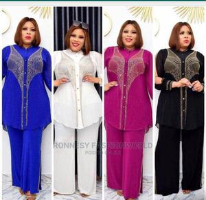 Elegant Classic Female Quality Two Piece Trouser and Top | Clothing for sale in Lagos State, Ikeja