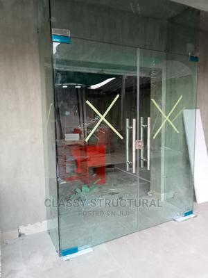 Frameless Fixed Glass With Swing Door | Doors for sale in Lagos State, Agege