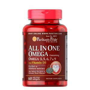 Puritan's Pride All in One Omega 3,5,6,7 and 9 With Vitamin   Vitamins & Supplements for sale in Lagos State, Ojo