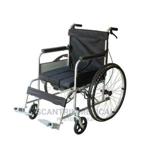 Comfortable Steel Manual Foldable Wheelchair | Medical Supplies & Equipment for sale in Abuja (FCT) State, Wuse