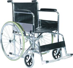 High Quality Steel Manual Foldable Wheelchair | Medical Supplies & Equipment for sale in Rivers State, Etche