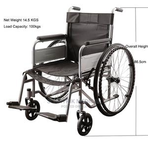 Popular Hospital Steel Manual Foldable Wheel Chair | Medical Supplies & Equipment for sale in Rivers State, Gokana