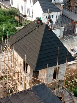 Classy Quality Stone Coated Roofing Tiles 0.5m or 0.4m Black | Building Materials for sale in Rivers State, Oyigbo