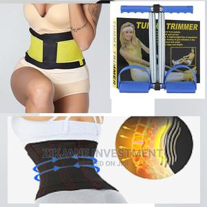 Body Slimming Sweat Bands Waist Trimmer Belt +Tummy Trimmer | Sports Equipment for sale in Lagos State, Alimosho