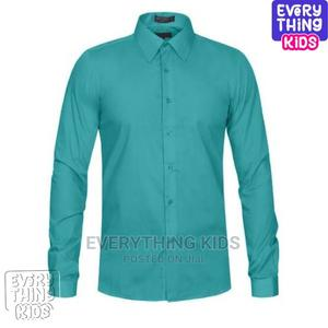 Boys Shirt- Long Sleeve Mint Green   Children's Clothing for sale in Lagos State, Ikeja