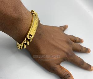 Men's Gold Steel Luxury Link Bracelet | Jewelry for sale in Lagos State, Ikorodu
