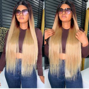 Two Tone Straight Human Hair Wig   Hair Beauty for sale in Lagos State, Alimosho