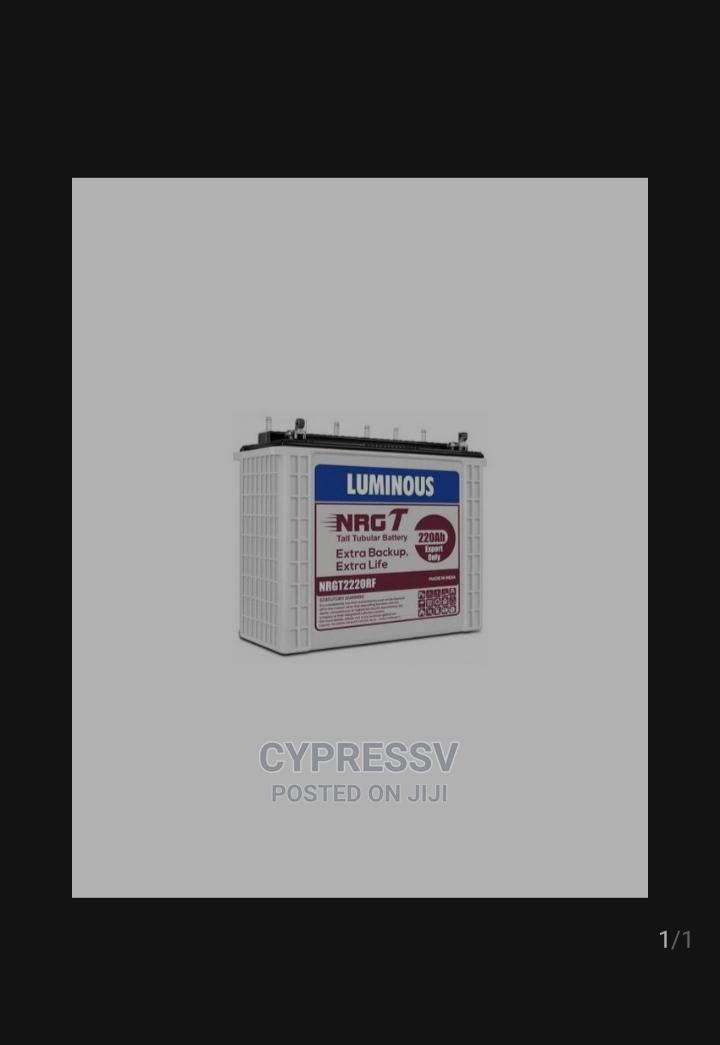 220ah 12V Luminous Tubular Battery With 24 Months Warranty