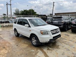 Honda Pilot 2006 EX-L 4x4 (3.5L 6cyl 5A) White | Cars for sale in Lagos State, Ikeja