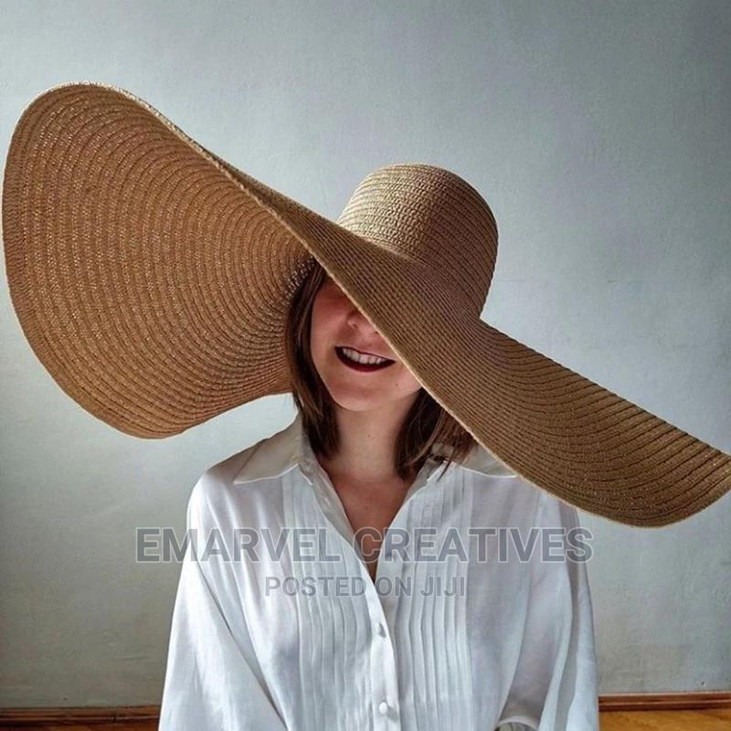 Large Brim Summer Sun Beach Hats   Clothing Accessories for sale in Surulere, Lagos State, Nigeria
