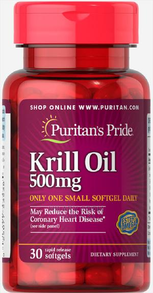 Puritan's Pride Red Krill Oil 500 Mg (86 Mg Active Omega-3)   Vitamins & Supplements for sale in Lagos State, Ojo