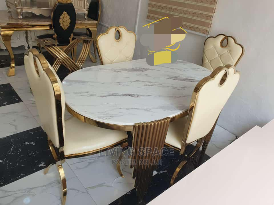 Executive Marble Dinning Table With 4 Chairs | Furniture for sale in Ajah, Lagos State, Nigeria