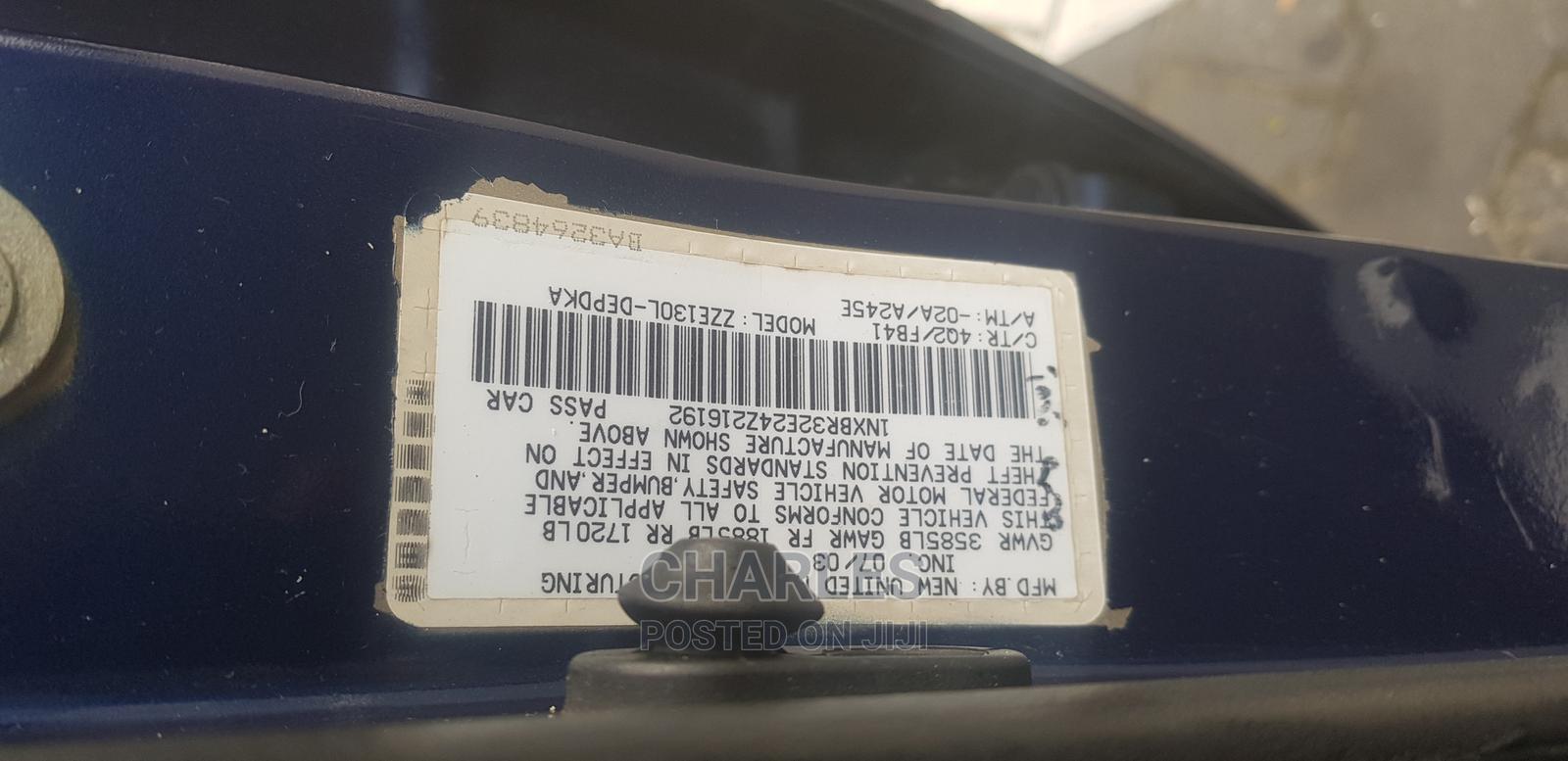 Archive: Toyota Corolla 2004 Sedan Blue