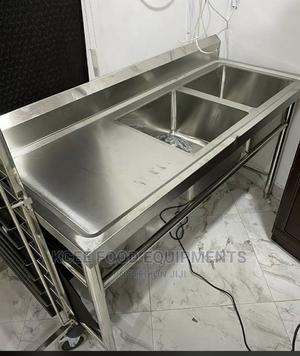 Stainless Steel Double Bowl Sink | Restaurant & Catering Equipment for sale in Abuja (FCT) State, Wuse 2