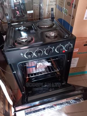 Midea Cooker 50×55cm 3gas+1 Electric Grill Oven | Kitchen Appliances for sale in Lagos State, Ikeja