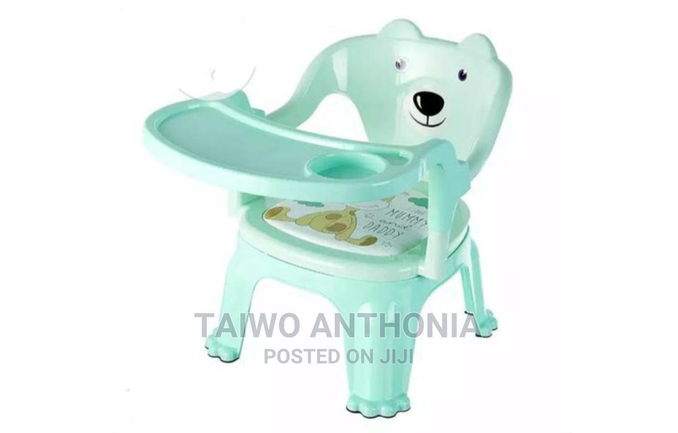 Kids Plastic Chair With Table Top