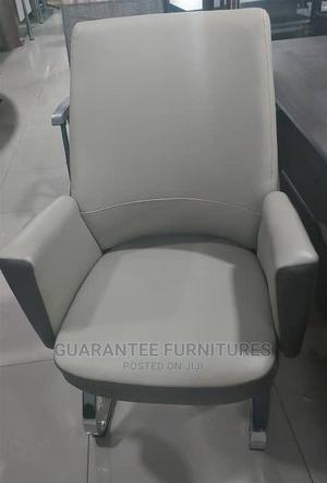 Durable Pure Leather Visitors Chair   Furniture for sale in Lagos State, Ajah