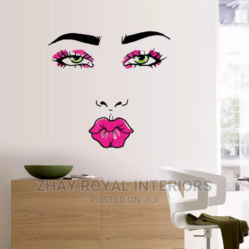 Lady Face Wall Sticker