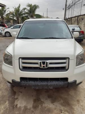 Honda Pilot 2008 EX-L 4x4 (3.5L 6cyl 5A) White | Cars for sale in Lagos State, Isolo