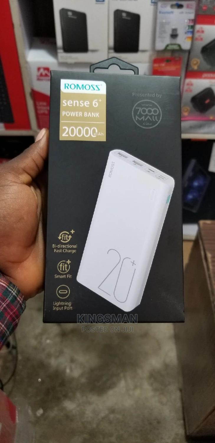 Romoss Sense6 20,000mah Power Bank | Accessories for Mobile Phones & Tablets for sale in Ikeja, Lagos State, Nigeria
