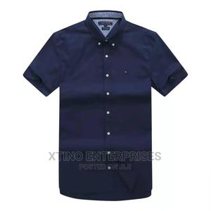 Tommy Hilfiger Plain Packet Shirt Short Sleeve Original   Clothing for sale in Lagos State, Surulere