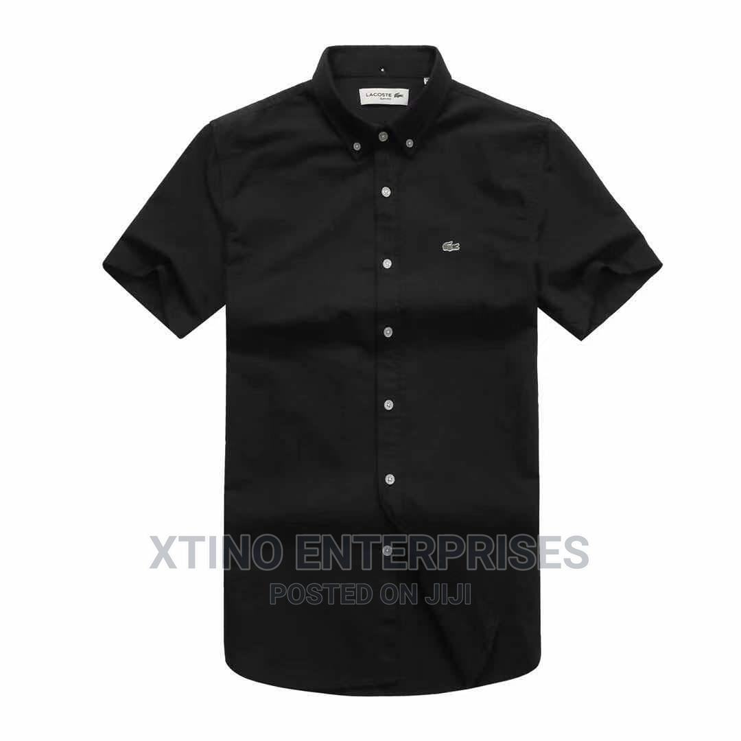 Original Lacoste Plain Packet Shirt Short Sleeve