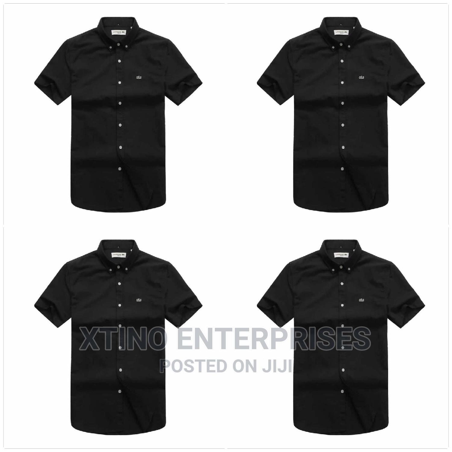 Original Lacoste Plain Packet Shirt Short Sleeve   Clothing for sale in Surulere, Lagos State, Nigeria