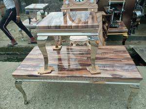 Marble Center Table With Too Side Stool | Furniture for sale in Lagos State, Badagry