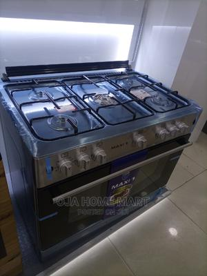 Maxi Standing Gas Cooker 90*60 4gas 2electric +Oven   Kitchen Appliances for sale in Lagos State, Ikeja