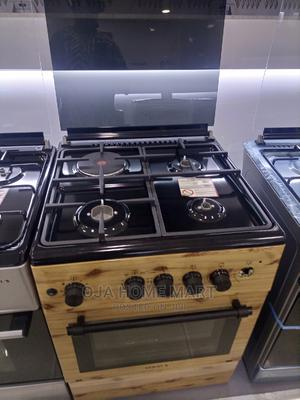 Maxi Standing Gas Cooker 60cm*60cm Wood 3gas,1electric,Oven   Kitchen Appliances for sale in Lagos State, Ikeja