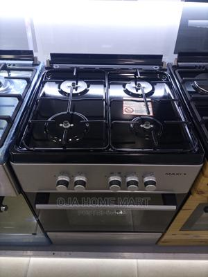 Maxi Standing Gas Cooker 60cm*60cm 4gas Burner With Oven   Kitchen Appliances for sale in Lagos State, Ikeja
