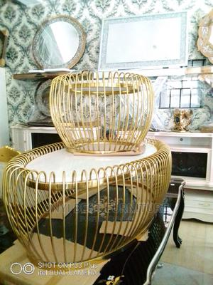 Quality Gold Marble Center Table Set | Furniture for sale in Lagos State, Magodo