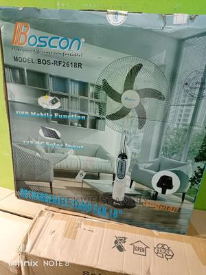 Boscon Solar Rechargeable Fan 18inches | Solar Energy for sale in Lagos State, Ojo
