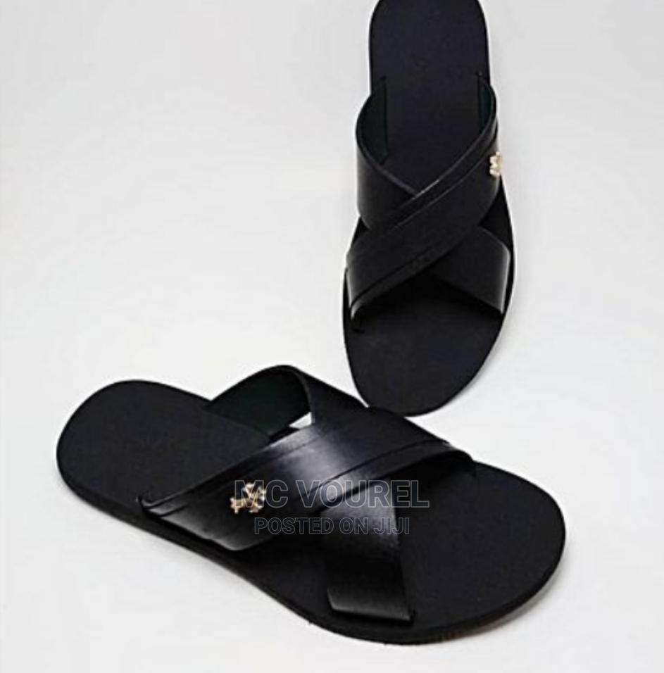 Archive: Cross Kingsmen Black Designers Palm Slippers