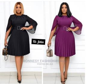 Classic Female Quality Pleated Gown   Clothing for sale in Lagos State, Ikeja