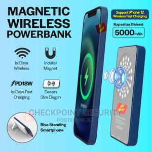 Portable 5000mah Magnetic Wireless Power Bank | Accessories for Mobile Phones & Tablets for sale in Lagos State, Ikeja