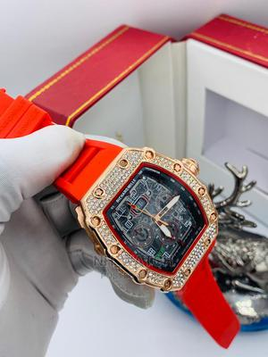 Richard Mille Watch Available in Red and Black Rubber | Watches for sale in Lagos State, Apapa