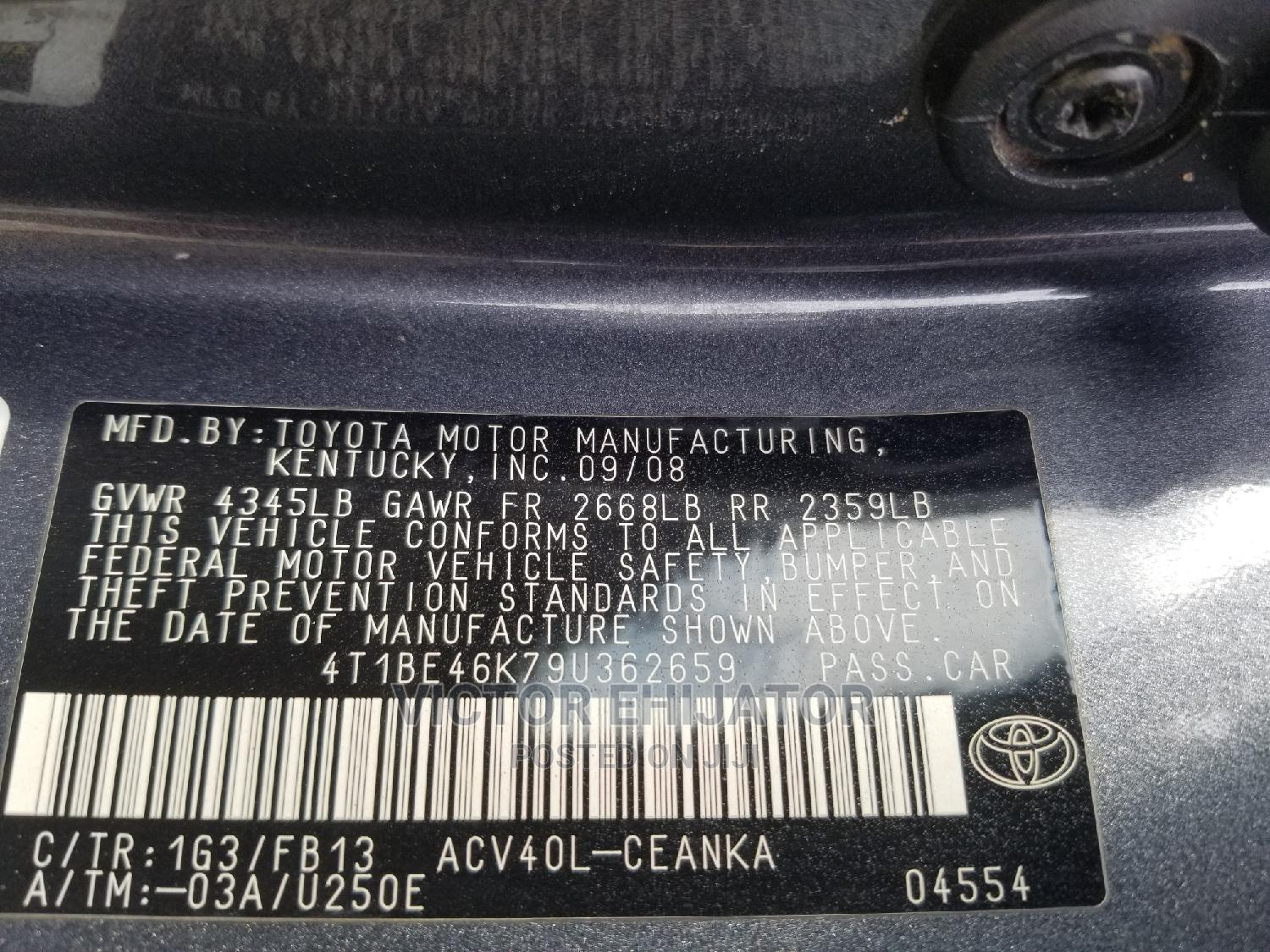 Toyota Camry 2009 Gray | Cars for sale in Magodo, Lagos State, Nigeria