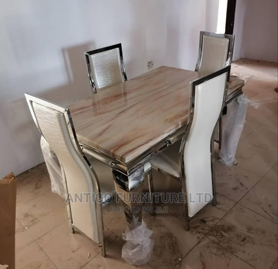 Quality Marble Dinning Table With 4 Chairs