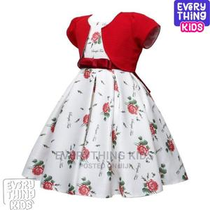 Cute Girls Jacketed Flowery Dress -Red | Children's Clothing for sale in Lagos State, Ikeja