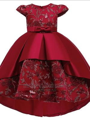 Girls' Princess Hi-Lo Ball Gown-Wine   Children's Clothing for sale in Lagos State, Ikeja