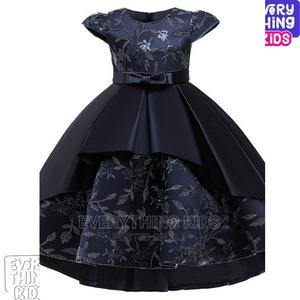 Girls' Princess Hi-Lo Ball Gown-Navy Blue   Children's Clothing for sale in Lagos State, Ikeja