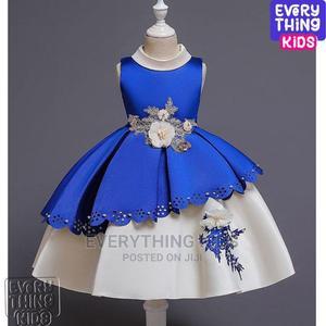 Girls Elegant Mid Length Dress-Royal Blue | Children's Clothing for sale in Lagos State, Ikeja