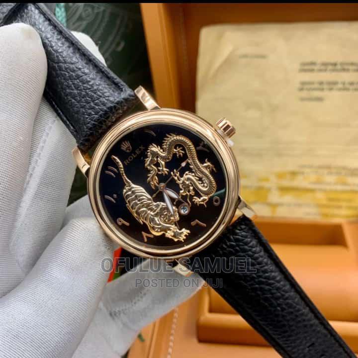 Rolex Leather Wristwatch
