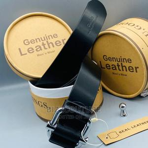 High Quality GUCCI Leather Black Belt Available for Sale   Clothing Accessories for sale in Lagos State, Magodo
