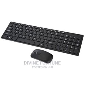 Wireless Keyboard Mouse Combo,2.4ghz Slim Full Size Wireless | Computer Accessories  for sale in Lagos State, Ikeja