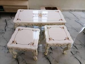 Beautiful Royal Center Table and Side Stool   Furniture for sale in Lagos State, Ikeja