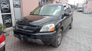 Honda Pilot 2004 EX-L 4x4 (3.5L 6cyl 5A) Black | Cars for sale in Lagos State, Isolo