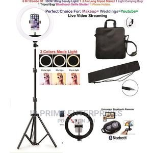 2.1M Tripod 33CM LED Ring Light Perfect for Videos Youtube | Accessories for Mobile Phones & Tablets for sale in Lagos State, Lagos Island (Eko)